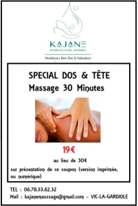 bon de reduction massage du dos