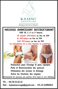 bon de reduction massage minceur